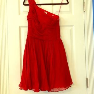 Stunning red pleated dress